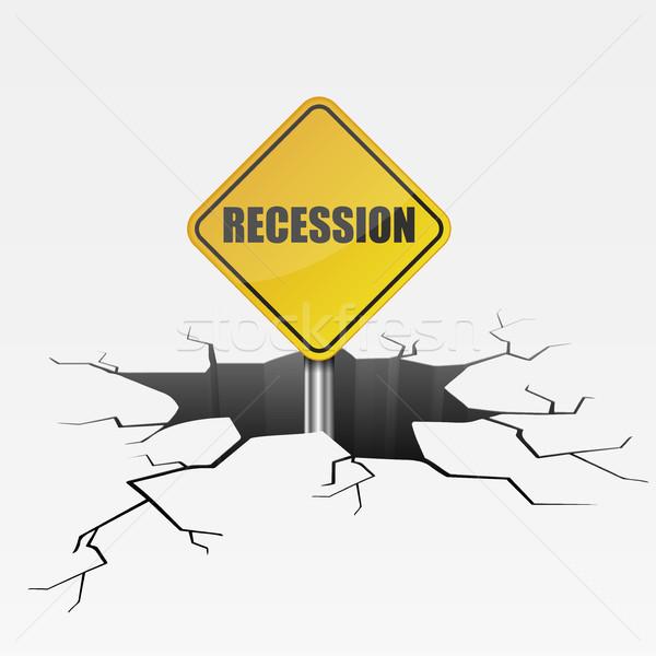 глубокий трещина рецессия подробный иллюстрация треснувший Сток-фото © unkreatives