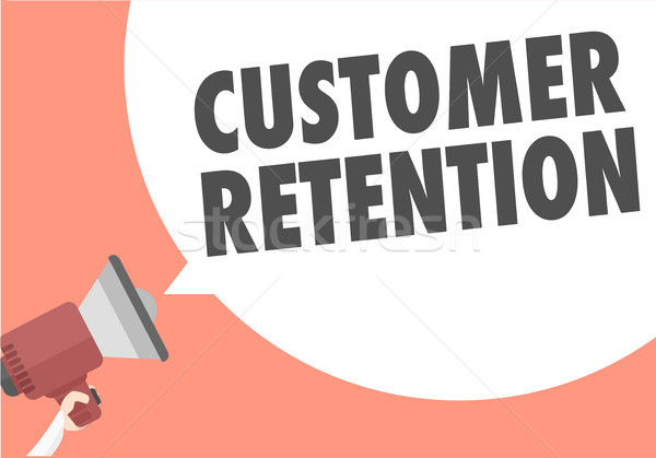 Megaphone Customer Retention Stock photo © unkreatives