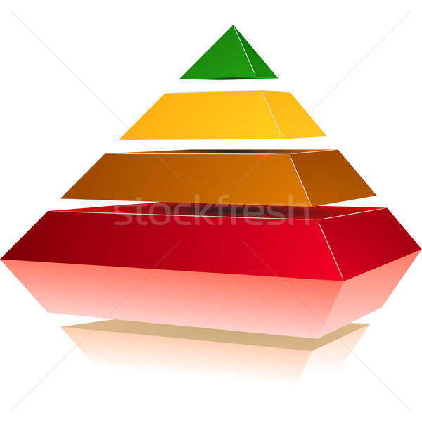 Pyramid with Colors Stock photo © unkreatives