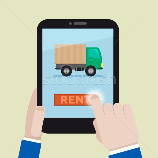 rent a truck Stock photo © unkreatives