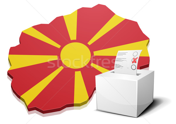 ballotbox Macedonia Stock photo © unkreatives