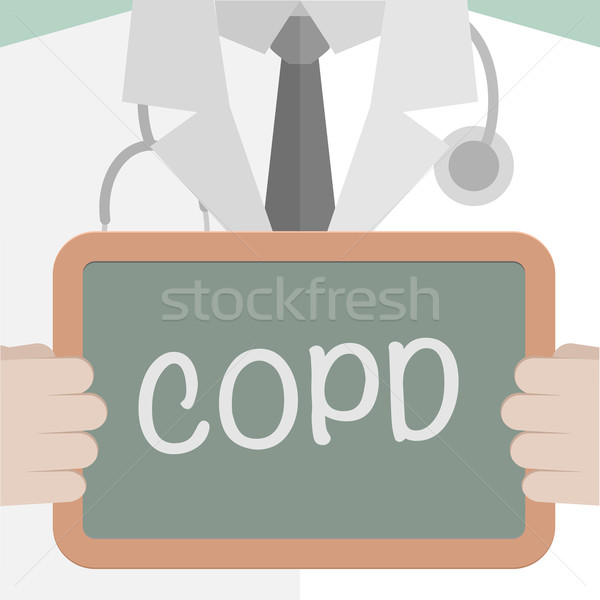 Stock photo: Medical Board COPD