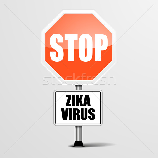RoadSign Stop Zika Stock photo © unkreatives