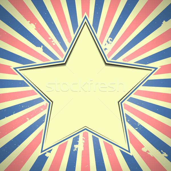 星 愛国的な 詳しい 実例 縞模様の ストックフォト © unkreatives