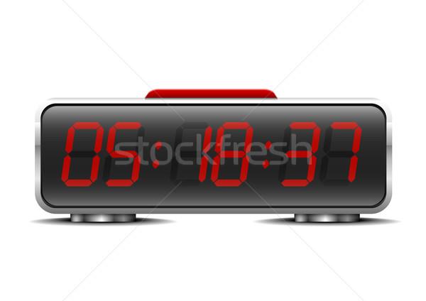 Stok fotoğraf: Dijital · çalar · saat · ayrıntılı · örnek · iş · teknoloji