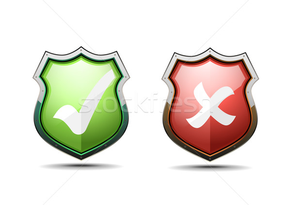 accept and decline coat of arms Stock photo © unkreatives