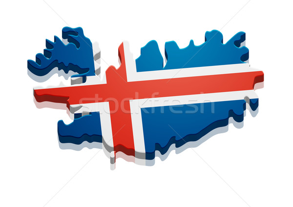 Map Iceland Stock photo © unkreatives