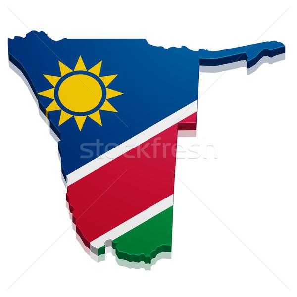 Map Namibia Stock photo © unkreatives