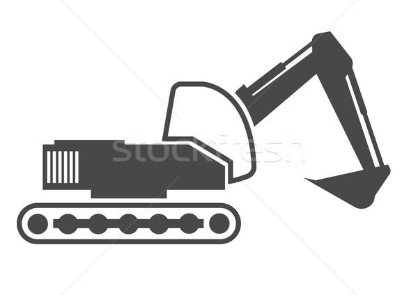 Escavadora detalhado ilustração eps10 vetor Foto stock © unkreatives