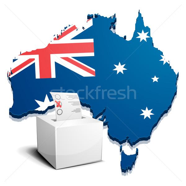 Austrália detalhado ilustração mapa eps10 vetor Foto stock © unkreatives