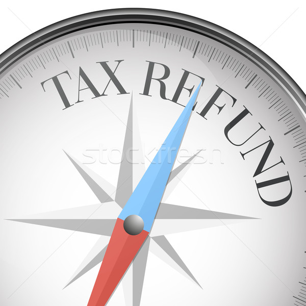 Iránytű adó viszzafizetés részletes illusztráció szöveg Stock fotó © unkreatives