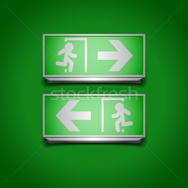 emergency exit signs Stock photo © unkreatives