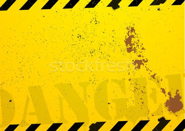 строительство опасность подробный иллюстрация Гранж дороги Сток-фото © unkreatives