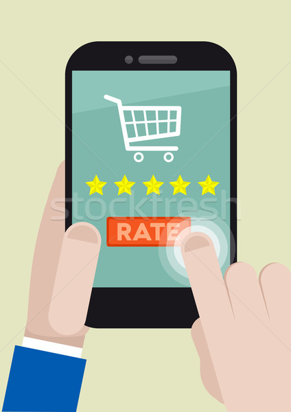 phone rating five stars Stock photo © unkreatives