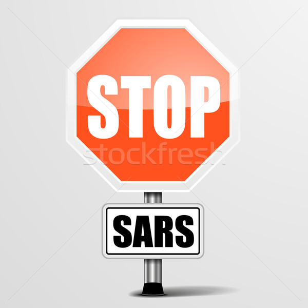 red sars Stop Sign Stock photo © unkreatives