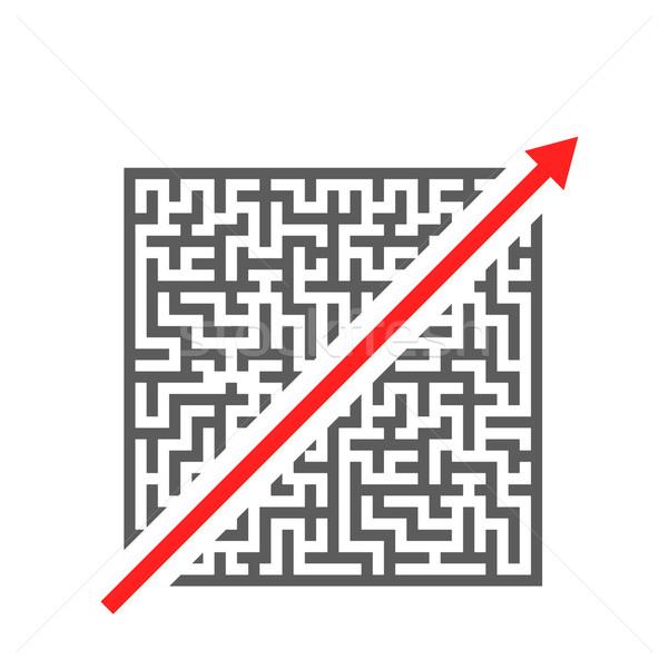 Maze Shortcut Stock photo © unkreatives