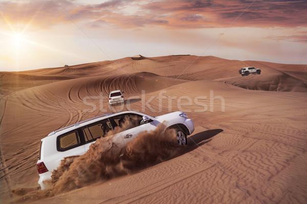 Desert Safari with SUVs Stock photo © unkreatives