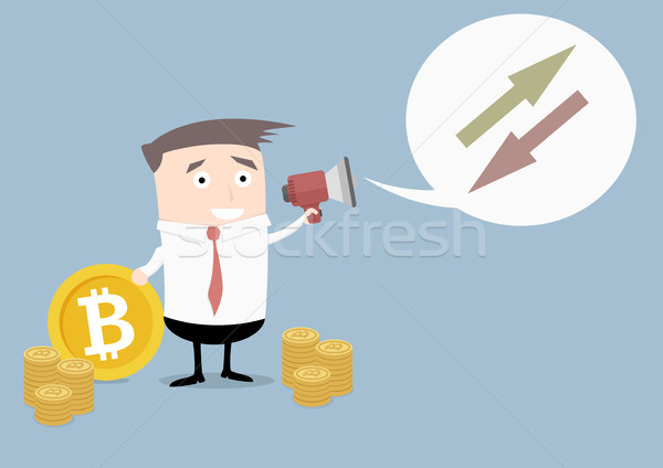 Businessman Bitcoin Exchange Stock photo © unkreatives