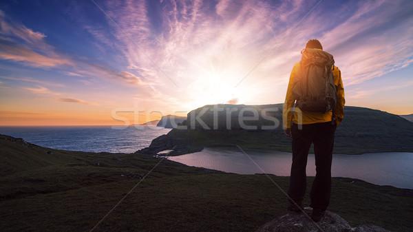 outdoor hiking mountain Stock photo © unkreatives