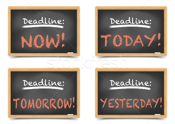 Blackboard Deadlines Stock photo © unkreatives