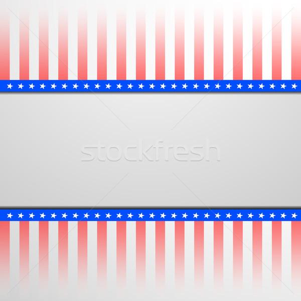 Patriotique étoiles détaillée illustration bannière Photo stock © unkreatives