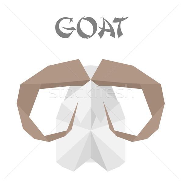 goat origami Stock photo © unkreatives