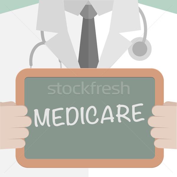 Orvosi tábla medicate minimalista illusztráció orvos Stock fotó © unkreatives