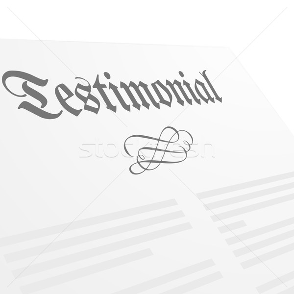 Testimonial Letter Head Stock photo © unkreatives