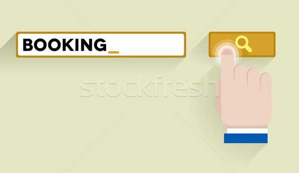 search booking Stock photo © unkreatives