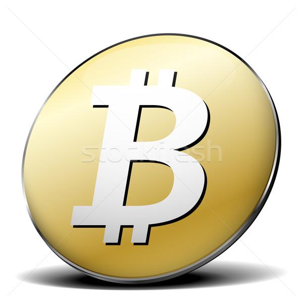 Bitcoin symbol Stock photo © unkreatives