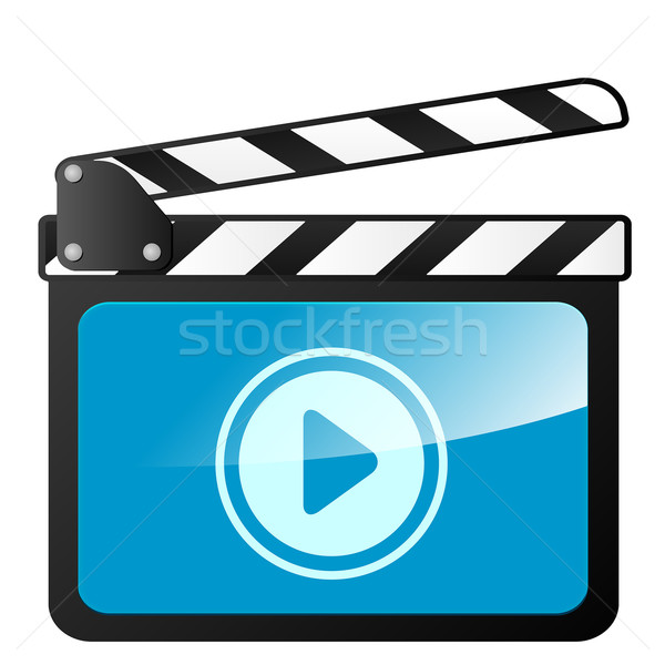 Stock photo: clapper board play