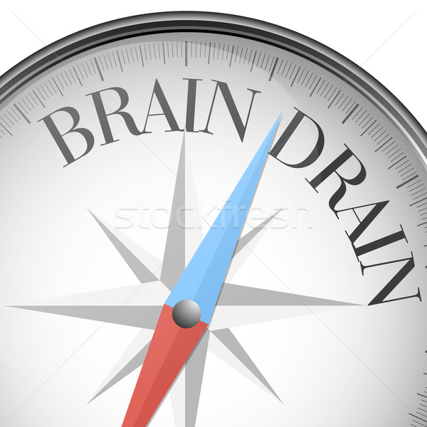 Stock photo: compass Brain Drain