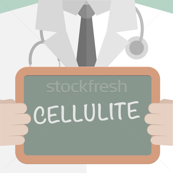 Médicaux bord cellulite illustration médecin Photo stock © unkreatives