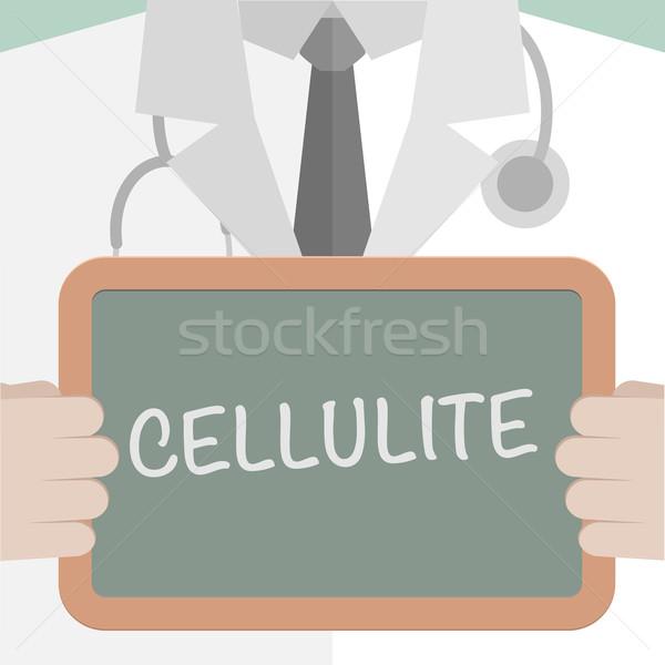 Tıbbi tahta selülit minimalist örnek doktor Stok fotoğraf © unkreatives