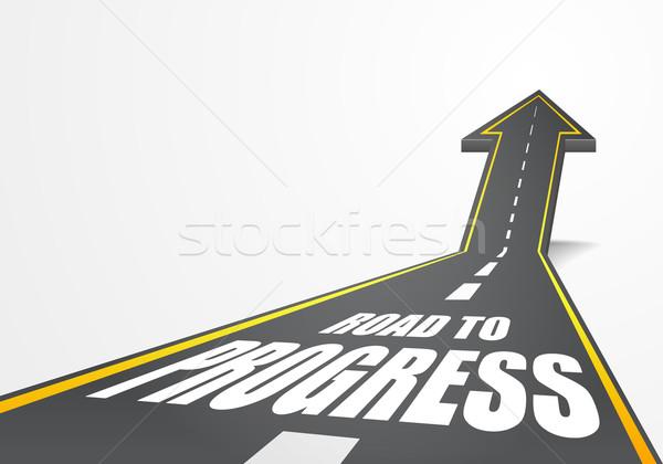 Estrada progresso detalhado ilustração rodovia para cima Foto stock © unkreatives