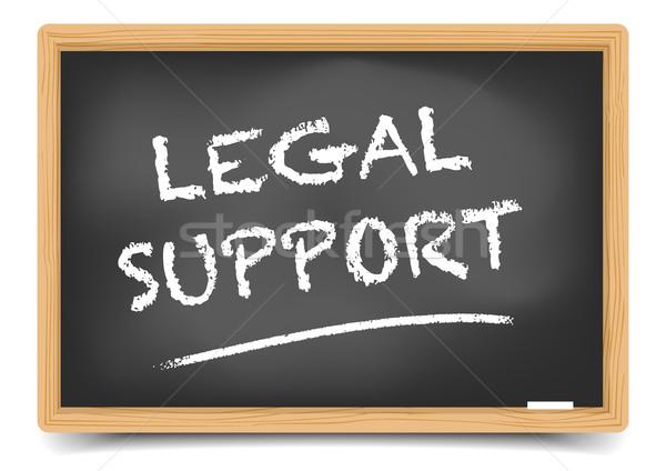Pizarra jurídica apoyo detallado ilustración texto Foto stock © unkreatives