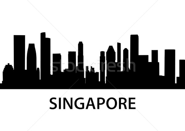 Skyline Singapour détaillée vecteur bâtiment ville Photo stock © unkreatives