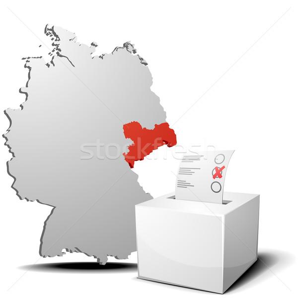 vote germany saxony Stock photo © unkreatives