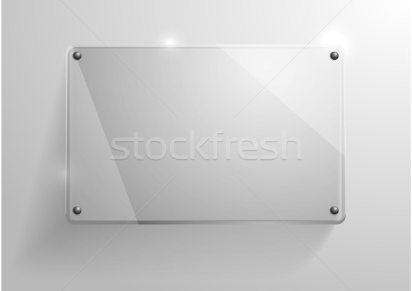 üveg váz részletes illusztráció fényes fal Stock fotó © unkreatives