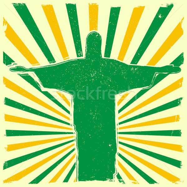 Jézus koszos kitörés részletes illusztráció szobor Stock fotó © unkreatives