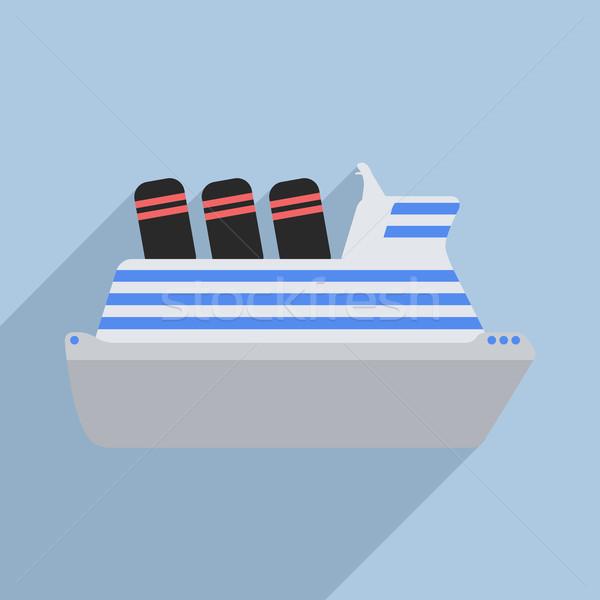 Statek wycieczkowy ilustracja eps10 wektora morza Zdjęcia stock © unkreatives