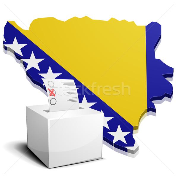 ballotbox Bosnia Herzegowina Stock photo © unkreatives