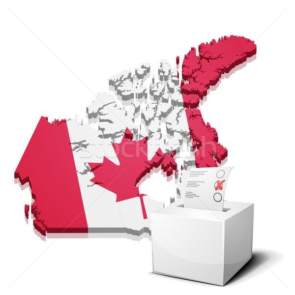 Canadá detalhado ilustração mapa eps10 vetor Foto stock © unkreatives