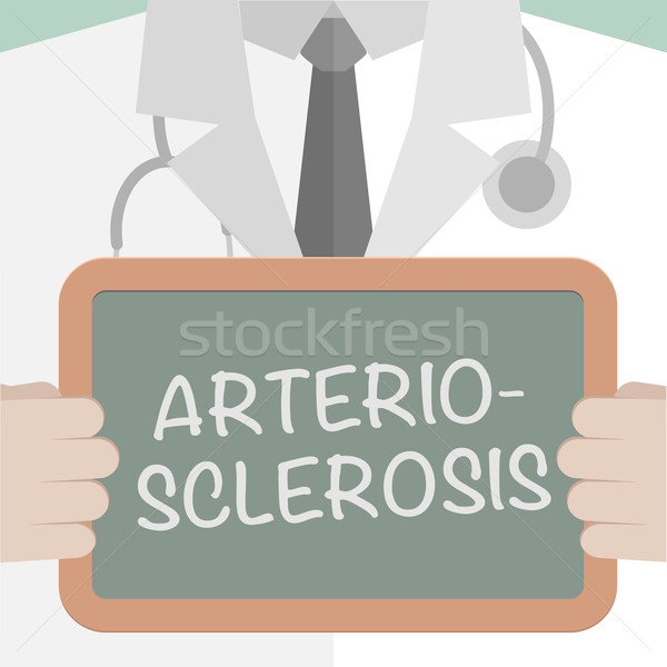 Orvosi tábla minimalista illusztráció orvos tart Stock fotó © unkreatives