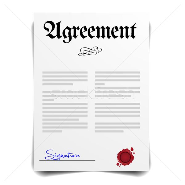 Agreement Stock photo © unkreatives