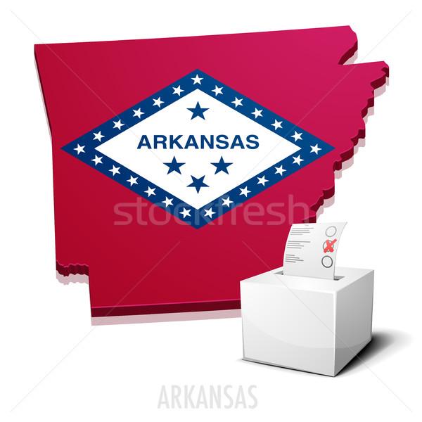 Arkansas részletes illusztráció térkép eps10 vektor Stock fotó © unkreatives