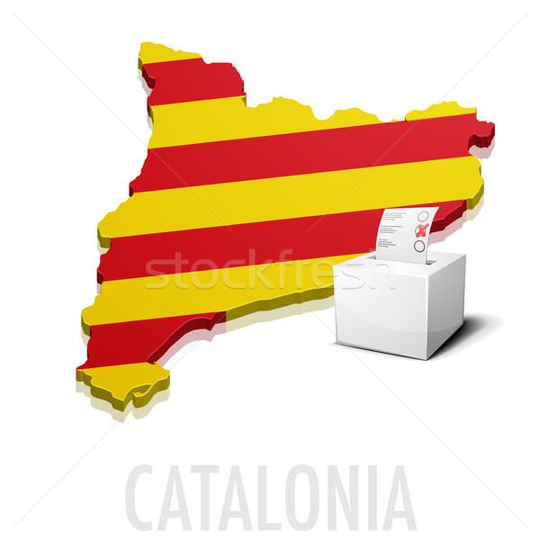 ballotbox Catalonia Map Stock photo © unkreatives