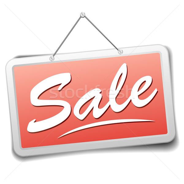 Signo venta detallado ilustración rojo tienda Foto stock © unkreatives