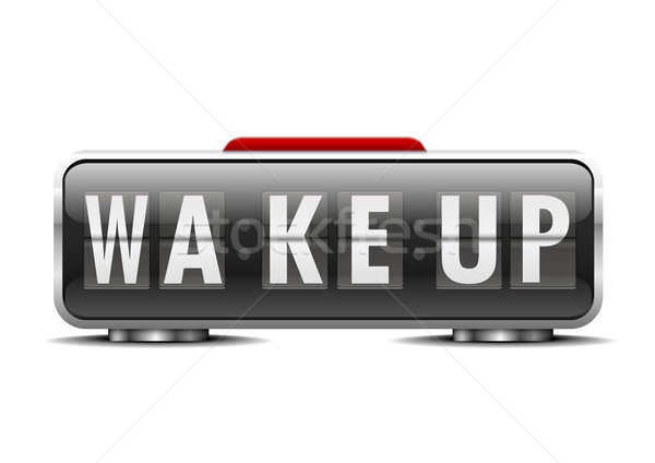 Detalhado ilustração despertador para cima dígitos Foto stock © unkreatives