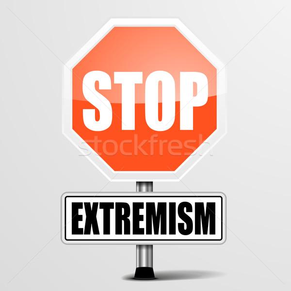Durdurmak ayrıntılı örnek kırmızı imzalamak eps10 Stok fotoğraf © unkreatives